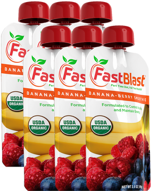 FastBlast Banana-Berry Smoothie - 12 Pouch Box