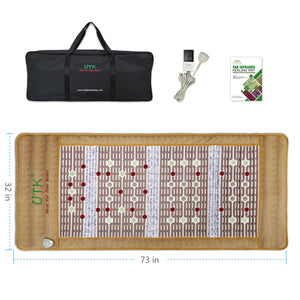 UTK Photon Infrared Heating Mat - Far Infrared Heating Pad with Jade, Amethyst and Tourmaline, 24 Photon Red Light Therapy