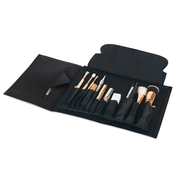 color: Black Leather+Brush Organizer