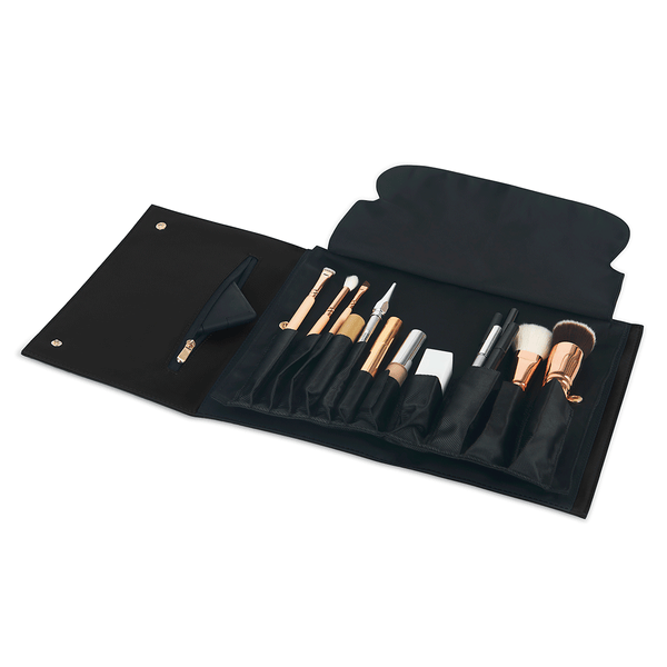 color: Satin Black Fabric+Brush Organizer