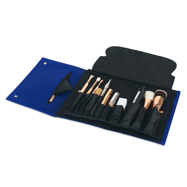 color: Royal Blue Fabric+Brush Organizer