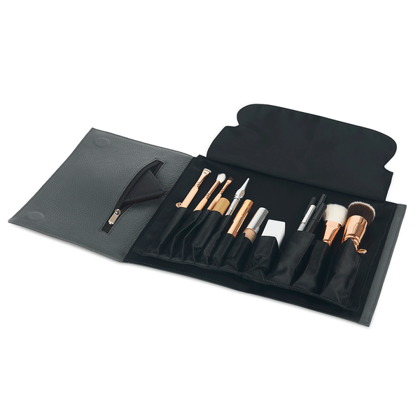 color: Grey Leather+Brush Organizer