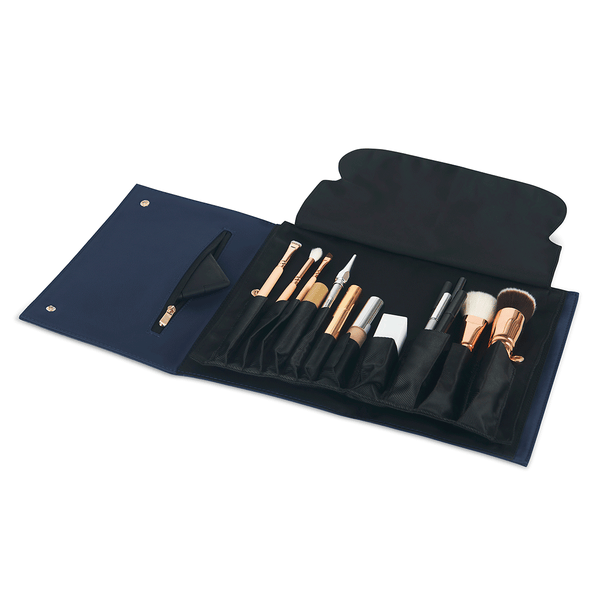 color: Navy Fabric+Brush Organizer