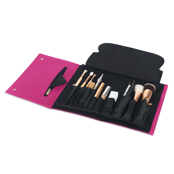 color: Pink Fabric+Brush Organizer