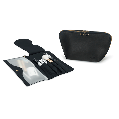 Signature+Luxurious Black Leather with Pink Interior+Pocket Organizer