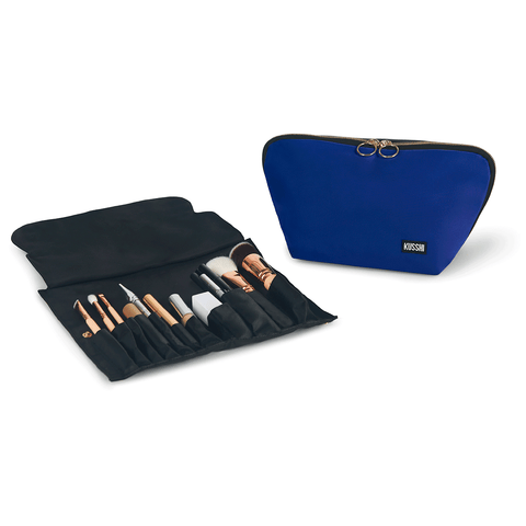 Signature+Royal Blue Fabric with Red Interior+Brush Organizer