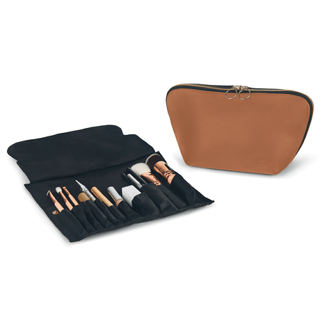 Signature+Luxurious Camel Leather with Red Interior+Brush Organizer