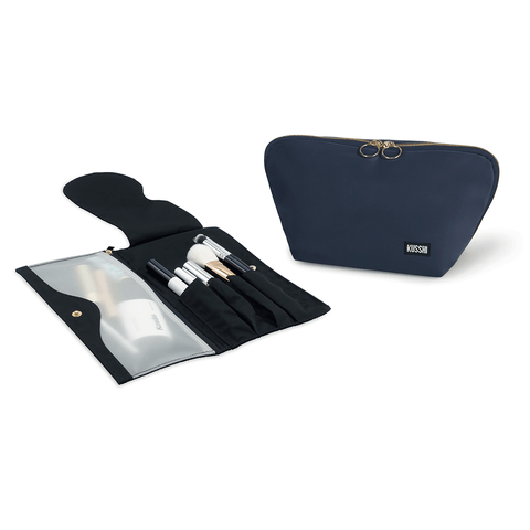 Signature+Navy Fabric with Pink Interior+Pocket Organizer