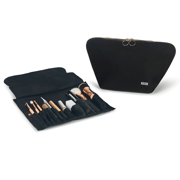 Vacationer Makeup Bag with Makeup Brush Organizer | KUSSHI
