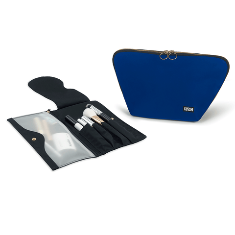 Vacationer+Royal Blue Fabric with Red Interior+Pocket Organizer
