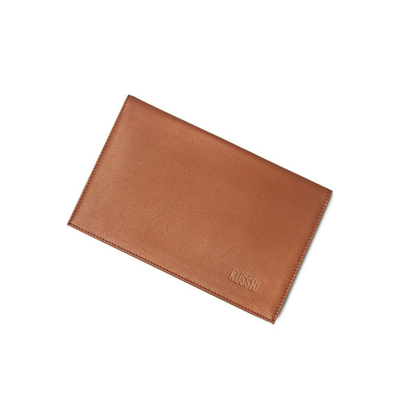 Camel Leather Clutch Cover | KUSSHI