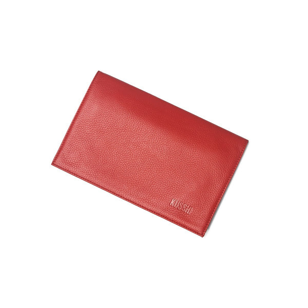 Red Leather Clutch Cover | KUSSHI