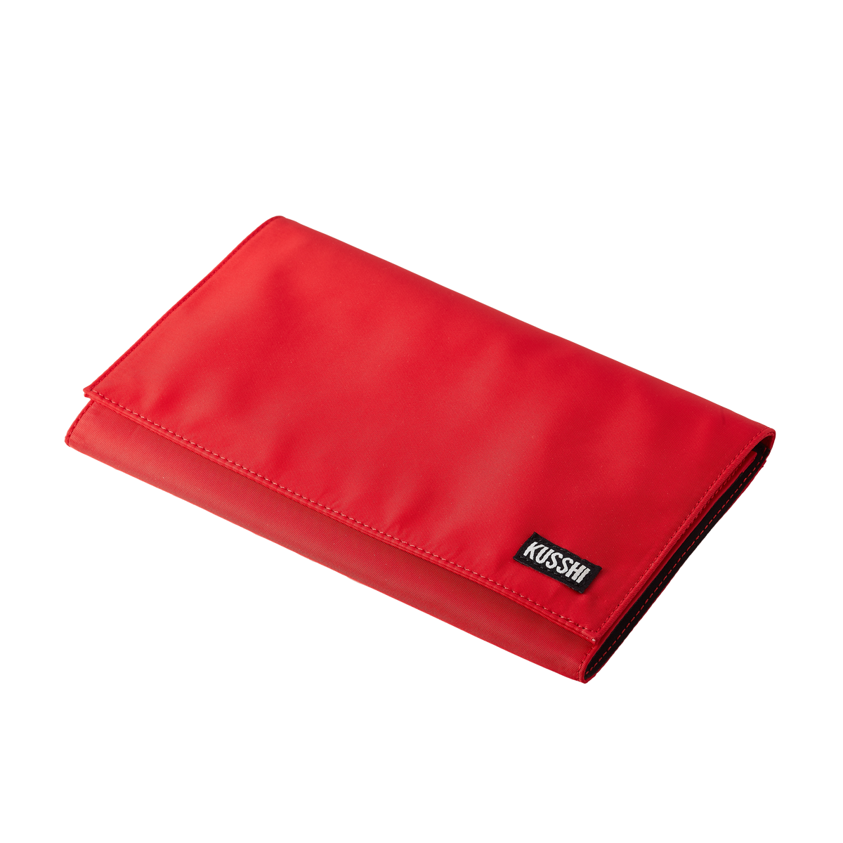 color: Candy Apple Red Fabric; alt: Candy Apple Red Clutch Cover | KUSSHI