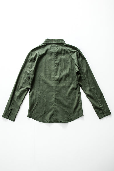 """Shady Financier"" Linen/Cotton Shirt"