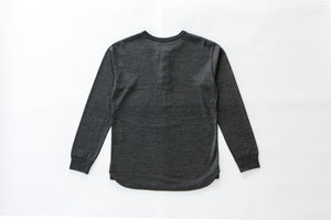 """Legrasse"" Long-Sleeve Merino Henley - Grey"