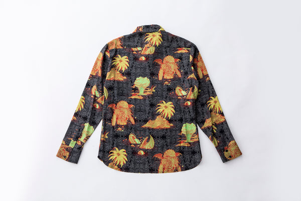 """Ascension Island"" Aloha Shirt (Long Sleeve)"