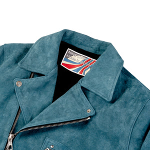"""The Dirty Bird"" Double Rider's Jacket - Blue"
