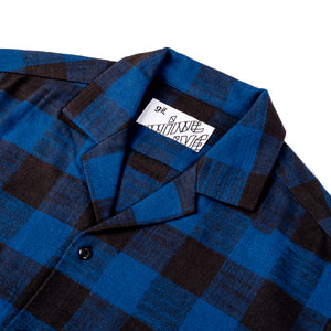The 405 in Flannel (Short Sleeve) - Blue/Black