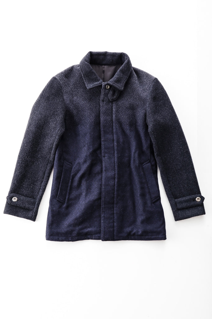 Fade-Out Jacquard Chore Coat