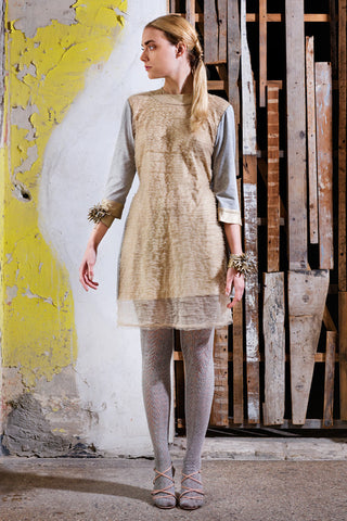 Dandelion Draped T-Shirt Dress