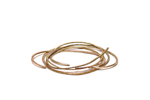 Brass Hand beaten flat Bangles