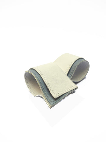 White_Grey Leather Cuffs