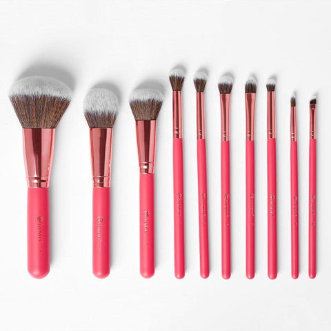 bh Rose Romance - 12 Piece Brush Set With Cosmetic Bag