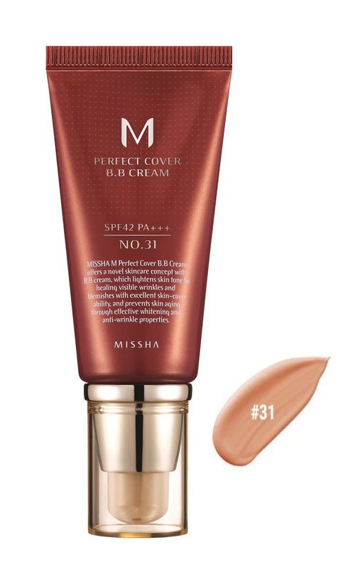 MISSHA PERFECT COVER B.B CREAM 50ML GOLDEN  BEIGE NO.31