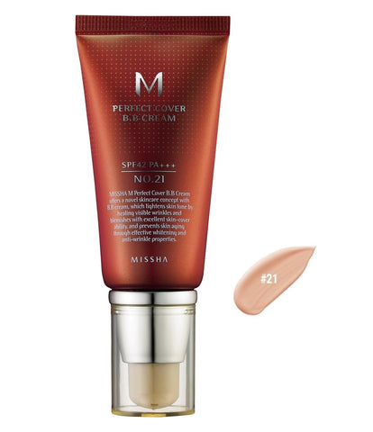 MISSHA PERFECT COVER B.B CREAM 50 ML HONEY BEIGE  NO.27