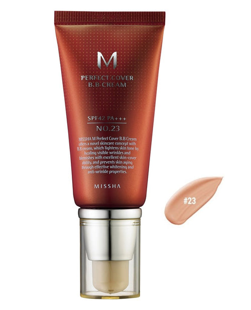 MISSHA PERFECT COVER B.B CREAM 50ML NATURAL BEIGE NO.23