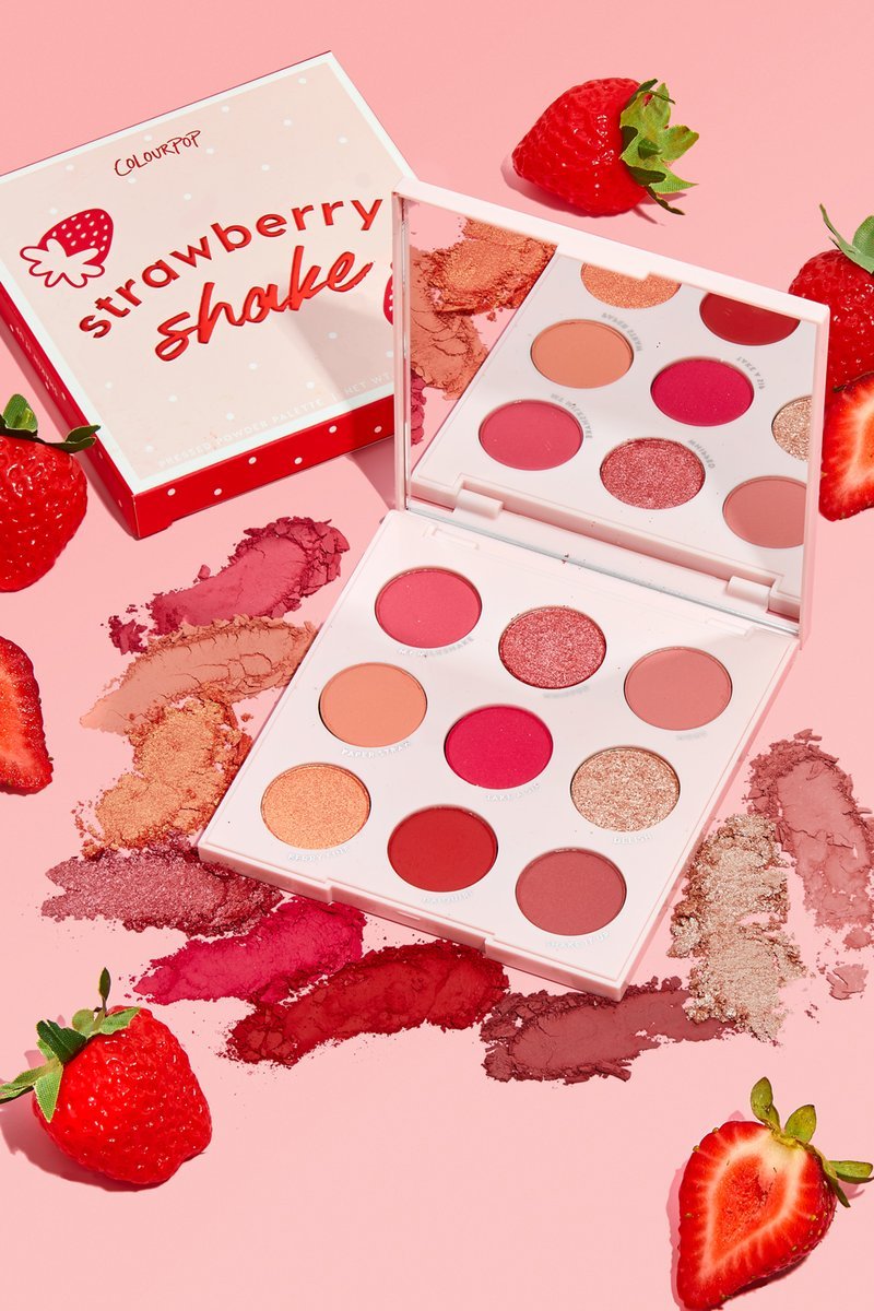 colour pop strawberry shake shadow palette