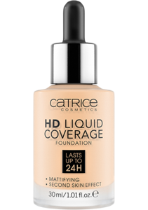 CATRICE HD LIQUID COVERAGE FOUNDATION 002 PORCELAIN BEIGE