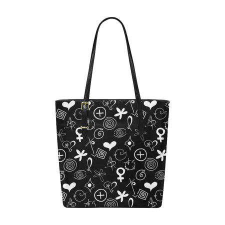 """MAD Symbols"" Pleather Tote Bag/Large"