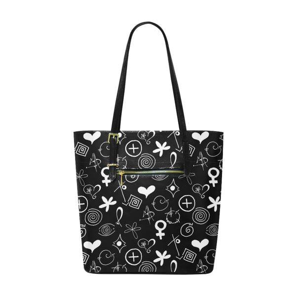 """MAD Symbols"" Pleather Tote Bag/Small - Livin' the MAD Life"
