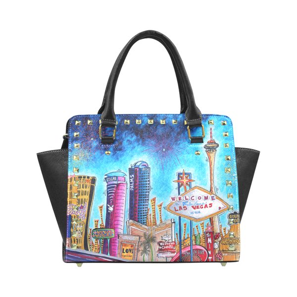 """Viva Las Vegas"" Classic Riveted Handbag - Livin' the MAD Life"