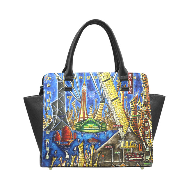 """Hong Kong Celebration"" Classic Riveted Handbag - Livin' the MAD Life"