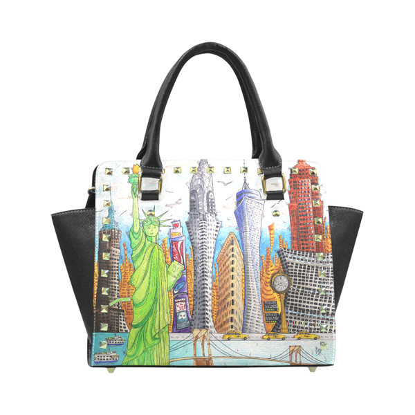 """A Day In New York"" Classic Riveted Handbag - Livin' the MAD Life"