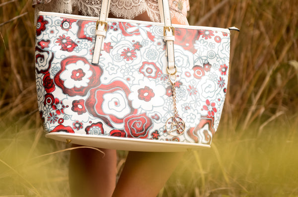 """Frida Flowers"" Large Tote - Livin' the MAD Life"
