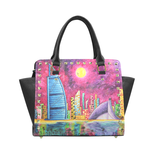 """Dubai"" Classic Riveted Handbag - Livin' the MAD Life"