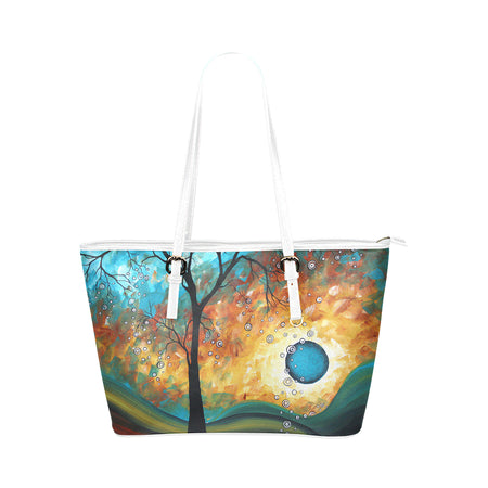 """Sweeping Tendrils"" Pleather Tote Bag"