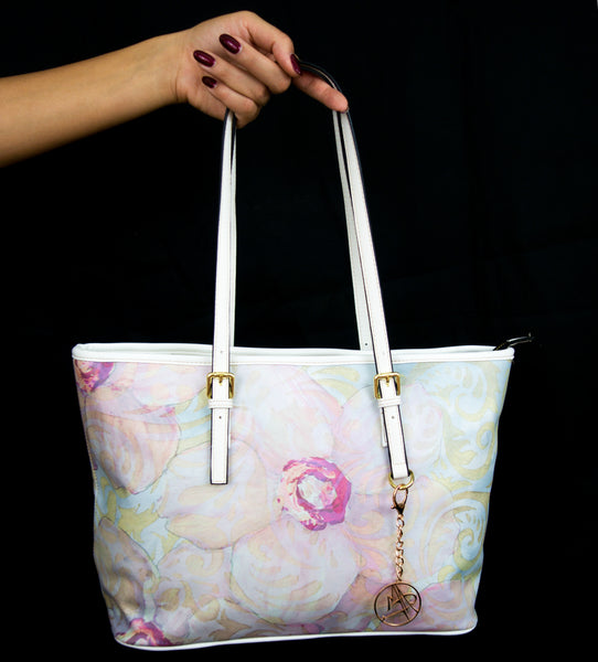 """Pink Luxe"" Pleather Tote Bag - Livin' the MAD Life"