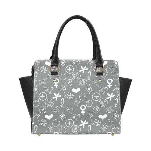 """MAD Symbols"" Classic Shoulder Handbag - Livin' the MAD Life"