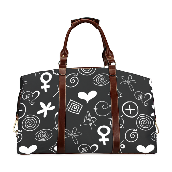 """MAD Symbols"" Black Travel Bag - Livin' the MAD Life"