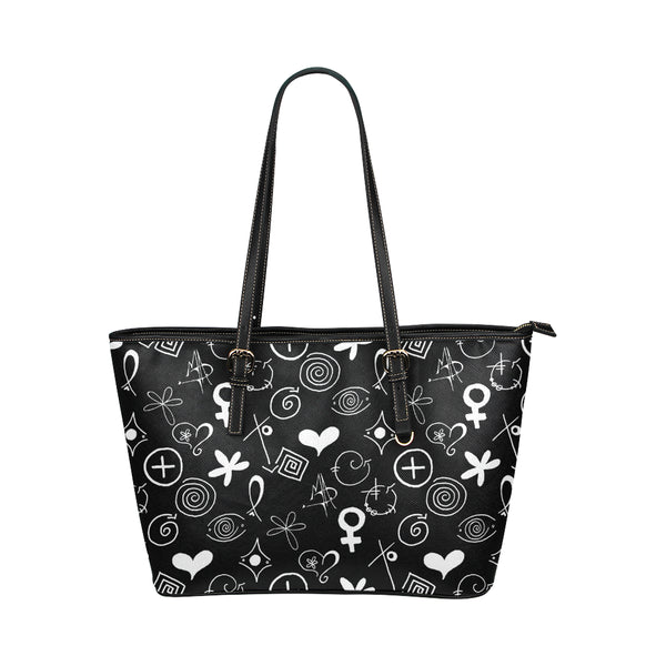 """MAD Symbols"" Pleather Tote Bag/Large - Livin' the MAD Life"