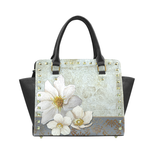 """Opulent Luxe"" Classic Riveted Handbag - Livin' the MAD Life"