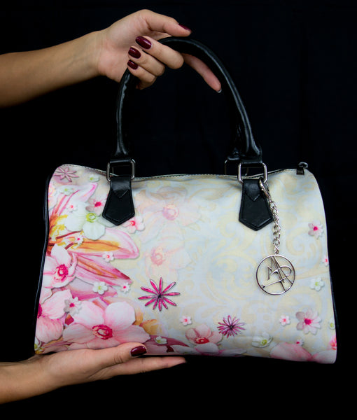 """Pink Luxe"" Boston Handbag - Livin' the MAD Life"