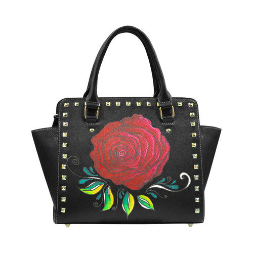 """Winter Rose"" Classic Riveted Handbag - Livin' the MAD Life"