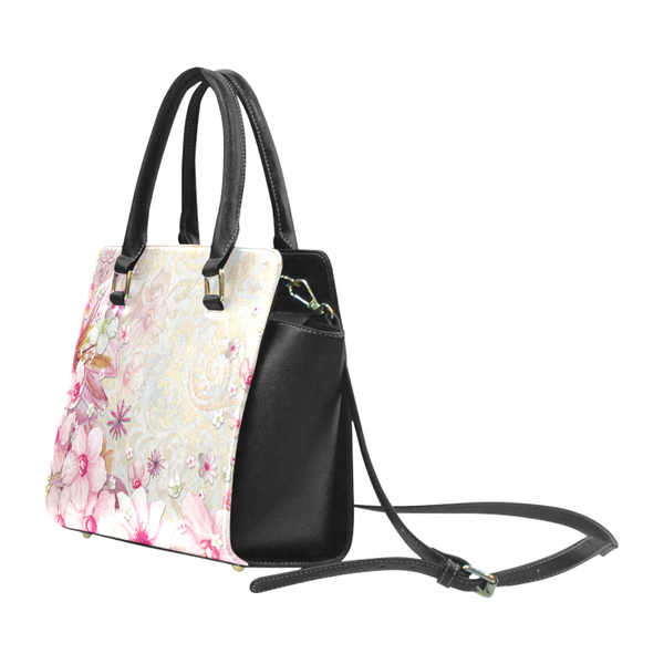 """Pink Luxe"" Classic Riveted Handbag - Livin' the MAD Life"
