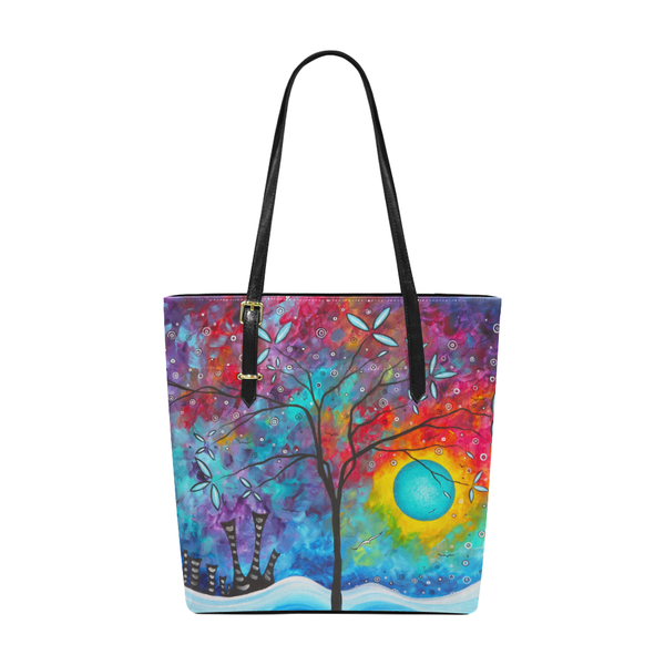"""Land of Harmony"" Pleather Tote Bag - Livin' the MAD Life"
