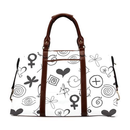 """MAD Symbols"" White Travel Bag - Livin' the MAD Life"